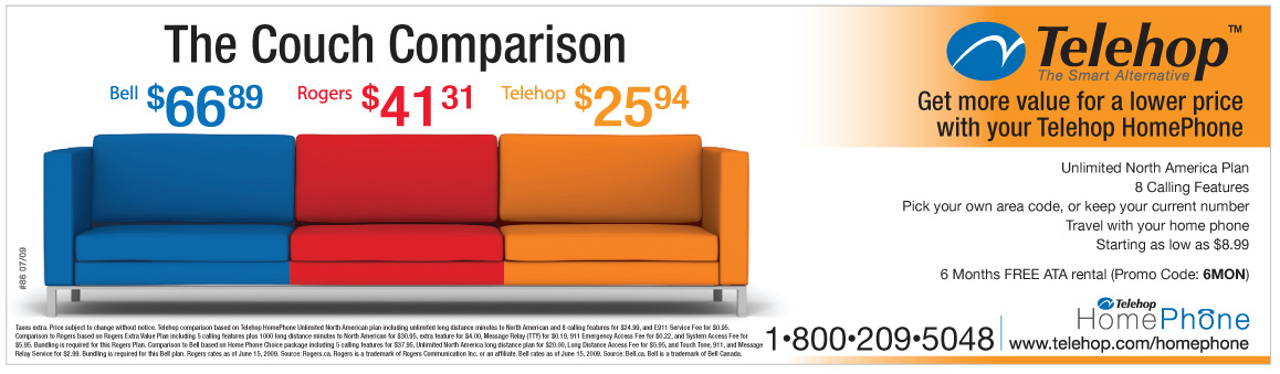 Telehop Couch comparison