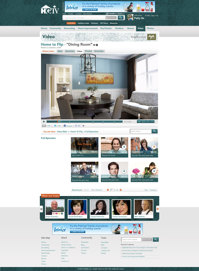 HGTV.ca redesign project